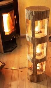 Lampe Mit Holzstamm : die besten 25 deko holz ideen auf pinterest nat rliche lichtlampe nat rliche stehlampen und ~ Indierocktalk.com Haus und Dekorationen