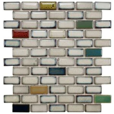Home Depot Merola Subway Tile by Merola Tile Essence Subway Cascade 11 7 8 In X 12 In X 9