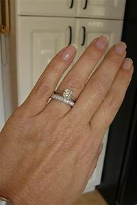 anniversary rings anniversary bands to be worn with solitaire With how are you supposed to wear a wedding ring set