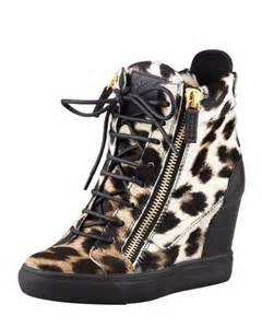 Leopard Print Wedge Sneakers for Women