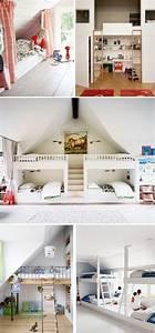 Chambre Sous Les Combles : chambre multiple j 39 installe ma tribu sous les combles mademoiselle d co blog d co ~ Melissatoandfro.com Idées de Décoration