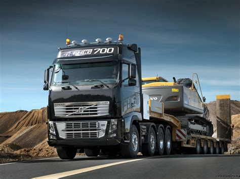 big d volvo volvo fh 16 700 750 with a heavy equipment transport http