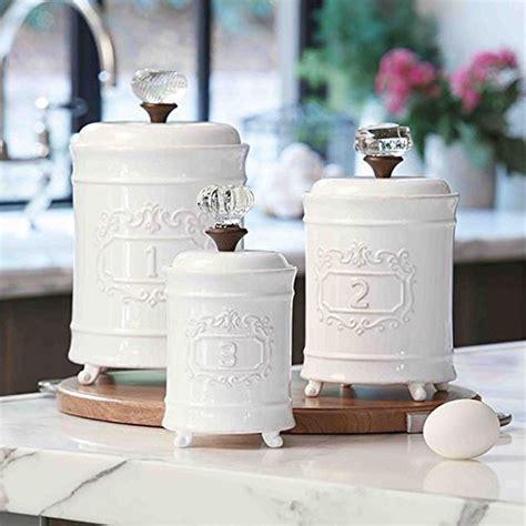 mud pie  kitchen canister set   white ebay