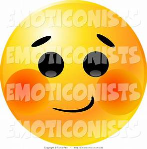 Blushing Smiley Face Clipart - Clipart Suggest