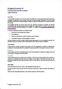 Business Term Sheet Template Budgeting Exercise 10 Cost Benefit Analysis Of Capital Projects