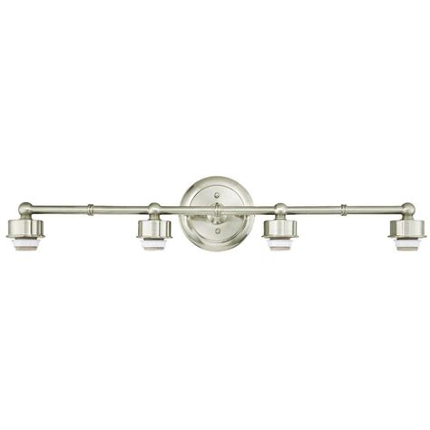 brushed nickel faucets kitchen westinghouse 4 light brushed nickel wall mount bath light
