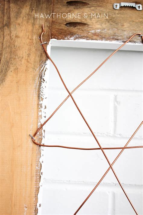 picture hanging wire and copper wire photo display
