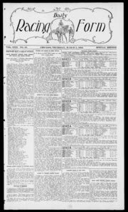 daily racing form n thursday march 2 1916 daily racing form free download borrow and