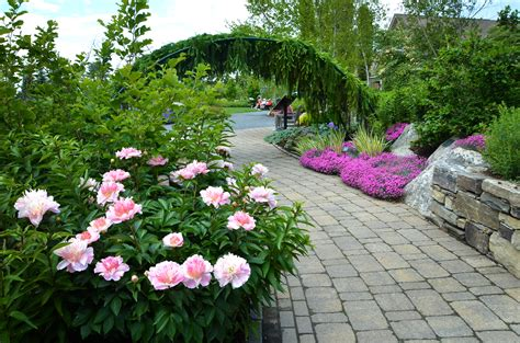 Lerner Garden Entrance With Peonies Dsc Galleries Coastal