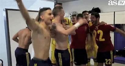 Desnudos Vestuario Jugadores Semi Sub21 Futbolistas Morata