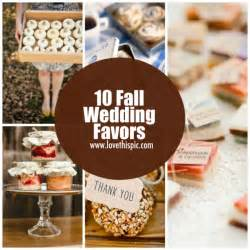 do it yourself wedding favors 10 fall wedding favors