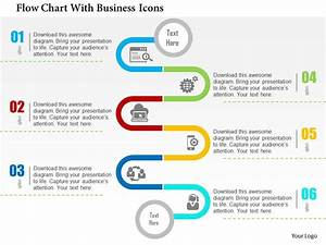 Professional Strategy Slides Showing Flow Chart With Business Icons Flat