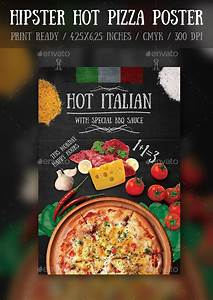 hipster hot pizza party flyerposter template pizza With pizza party flyer template free