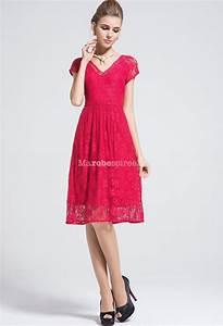 robe en dentelle rouge avec col en v et manches With robe de mariée rouge avec bague homme