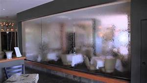 Glass Panel Waterfall - Vigilucci's - YouTube