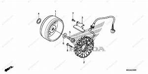 Honda Motorcycle 2009 Oem Parts Diagram For Alternator