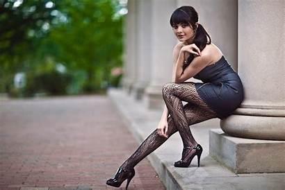 Desktop Stockings Brunette Seksowna Kobieta Legs Wallpapers