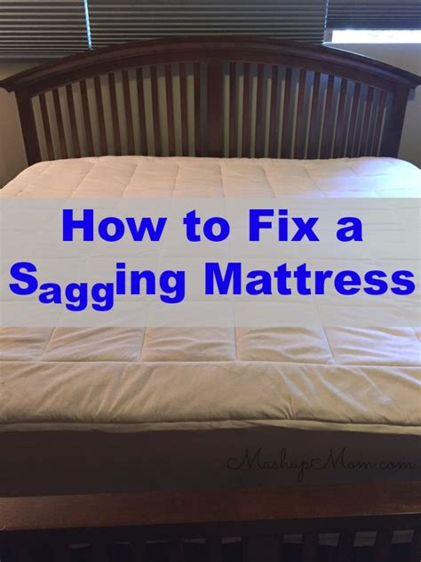 how to fix a in air mattress how to fix a sagging mattress on the cheap