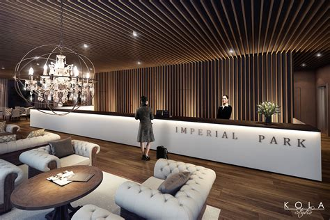 imperial park hotel interior visualizations  behance