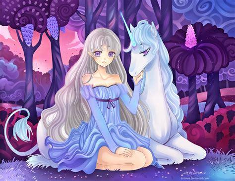 anime unicorn art the last unicorn by larienne on deviantart