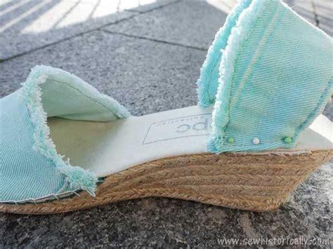 diy espadrilles shoe making tutorial sew historically