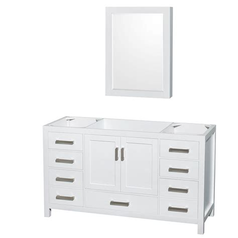 vanity mirror medicine cabinet wyndham collection sheffield 59 in vanity cabinet with