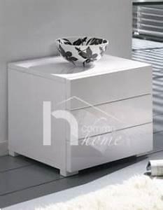 Table De Chevet Blanc Laqué : superbe table de chevet design pour chambre adulte ~ Teatrodelosmanantiales.com Idées de Décoration
