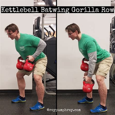 gorilla row kettlebell batwing chain posterior rows