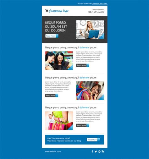 design  responsive mailchimp template  mustafizeps