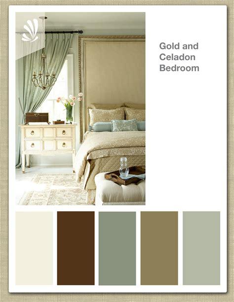 Color Palettes For Bedrooms by Gold Celadon Butterscotch Color Palette