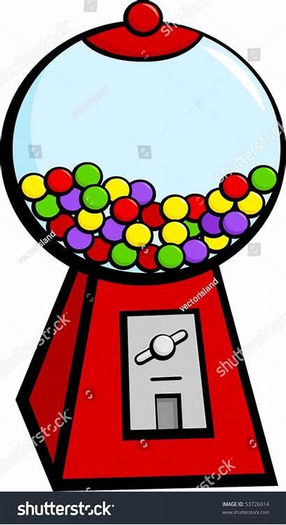 Gum Bubble Machine Clipart Chewing Vending Ball