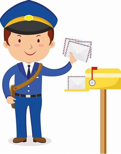 Postman Clipart Carrier Mail Transparent Hat Policeman
