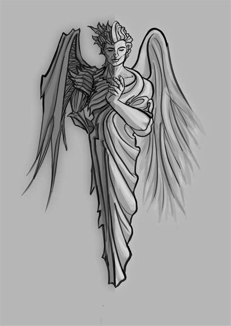Half Angel Half Demon Tattoo A half devil half angel