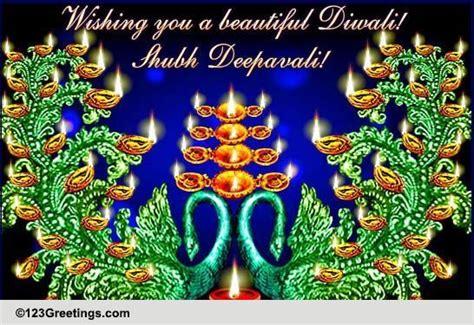 beautiful peacock diwali diyas  diyas ecards greeting cards