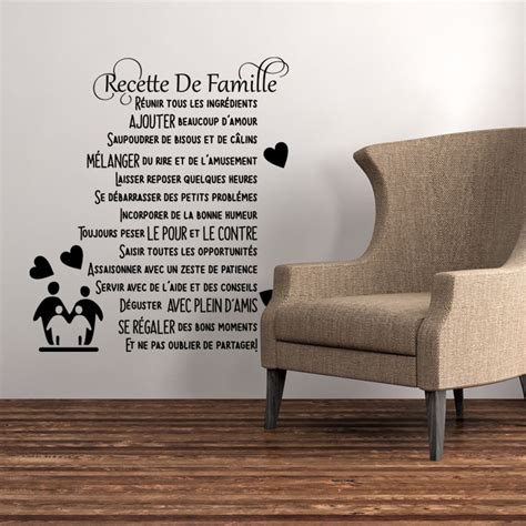 stickers muraux cuisine citation sticker citation recette de famille stickers citations