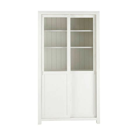 vitrine maison du monde vitrine en bois massif blanche l 110 cm white maisons du monde