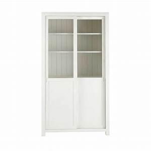 Maison Du Monde Vitrine : vitrine en bois massif blanche l 110 cm white maisons du monde ~ Teatrodelosmanantiales.com Idées de Décoration