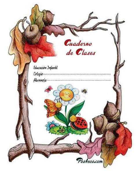 caratulas color cuadernos escolares infantiles dibujos para imprimir 1 imagenes pw