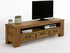 Meuble Bas Bois : meuble tv bas en bois ~ Teatrodelosmanantiales.com Idées de Décoration