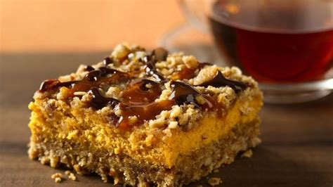 Ingredients For Pumpkin Pie Mix by Pumpkin Streusel Cheesecake Bars Recipe From Betty Crocker
