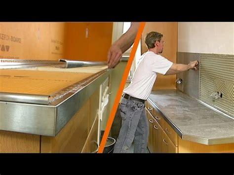 refaire plan de travail cuisine carrelage schlüter kerdi board plan de travail de cuisine carrelé