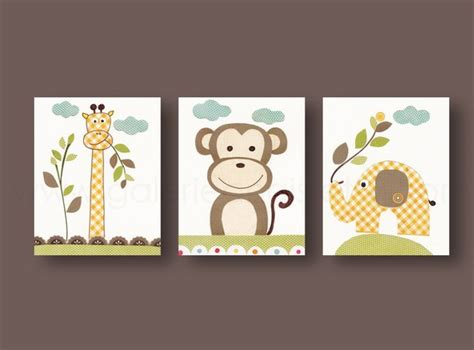 décoration chambre bébé garçon faire soi même lot de 3 illustrations pour chambre d 39 enfant et bebe