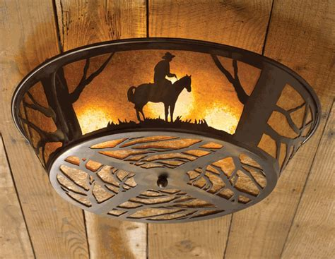 Cowboy Ceiling Light Fixture