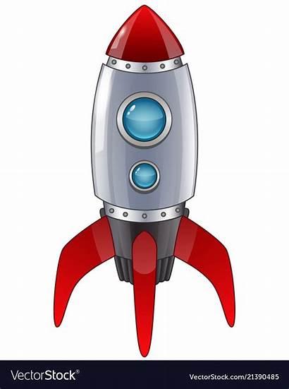 Rocket Cartoon Launch Vector Royalty