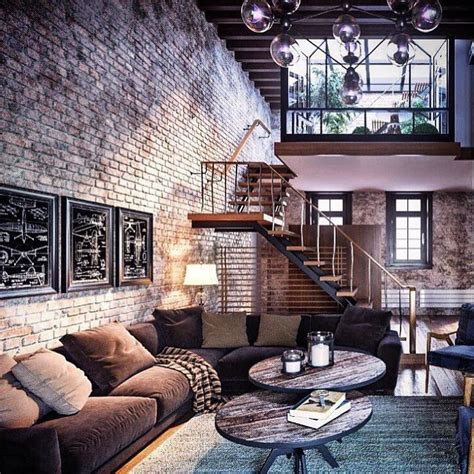 Amazing Loft by Amazing Loft Design With Exposed Brick Industrial And