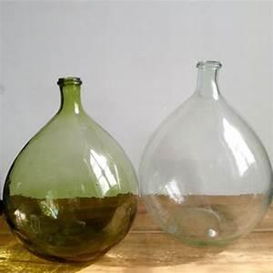 Dame Jeanne En Verre : dame jeanne bonbonne vase forme bouteille en verre recycl vert ~ Teatrodelosmanantiales.com Idées de Décoration