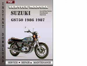 Suzuki Gs750 1986 1987 Factory Service Repair Manual