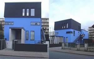 Hausfassade Weiß Anthrazit : wohnideen wandgestaltung maler huch was das denn ein blau schwarzes haus ~ Markanthonyermac.com Haus und Dekorationen