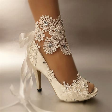 Wedding Shoes by Aliexpress Buy Dress Shoes Pumps Open Toe Lace