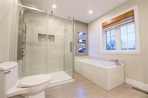 histoire de renovation une salle de bain zen With budget salle de bain